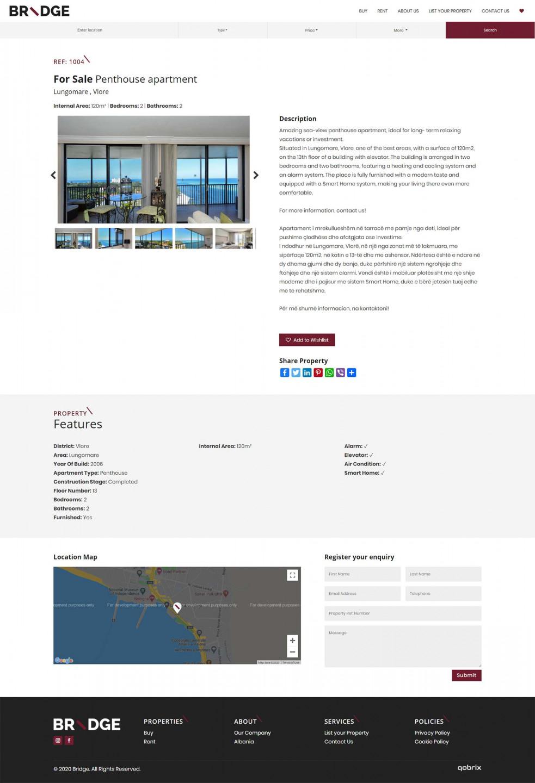 Bridge YourHome website-property listing