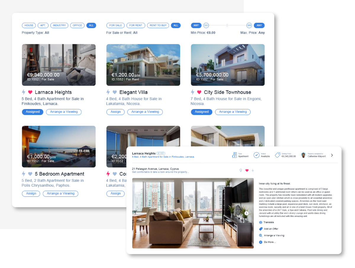 Property listing and website integration