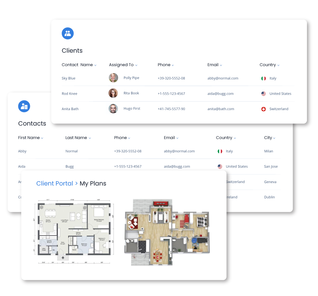 Communication of CRM with Real Estate Client Portal