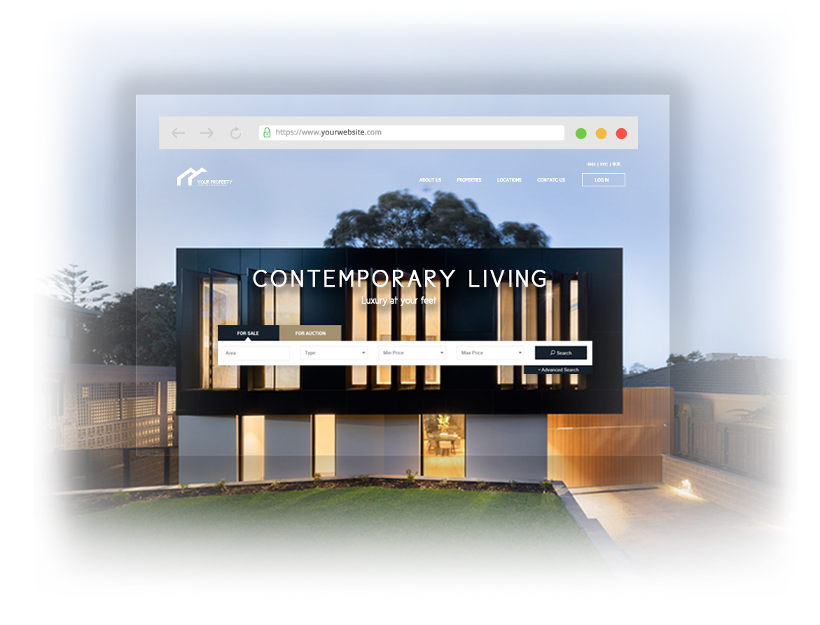 Qobrix real estate website builder allows you to choose from a variety of high-quality templates