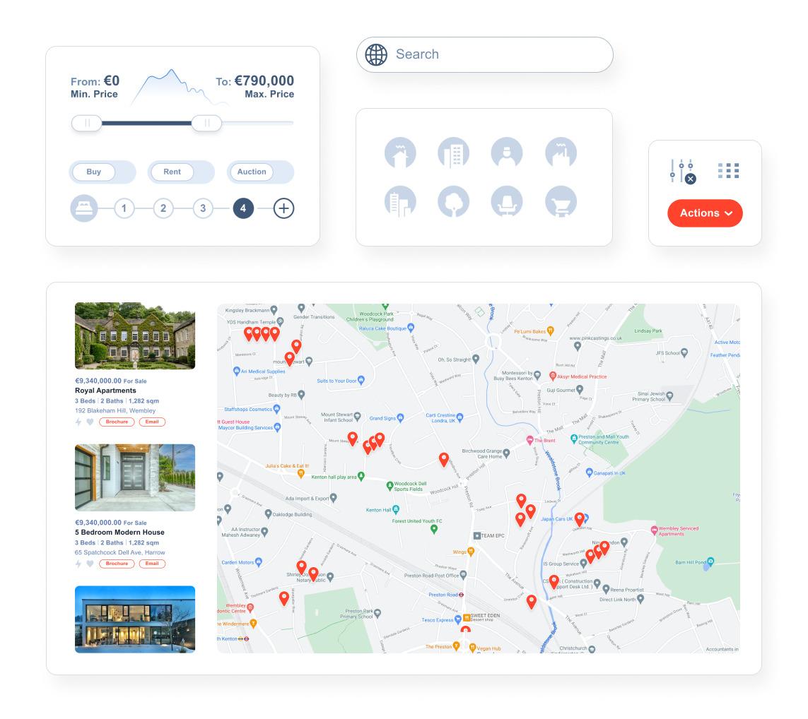 Real Estate Agent Portal Optimized search