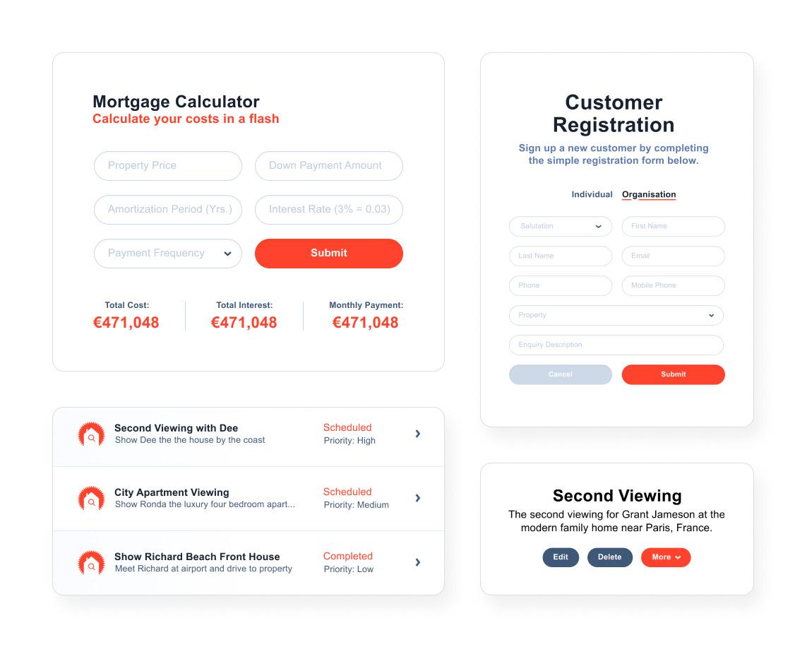 Real Estate Agent Portal sales pipeline