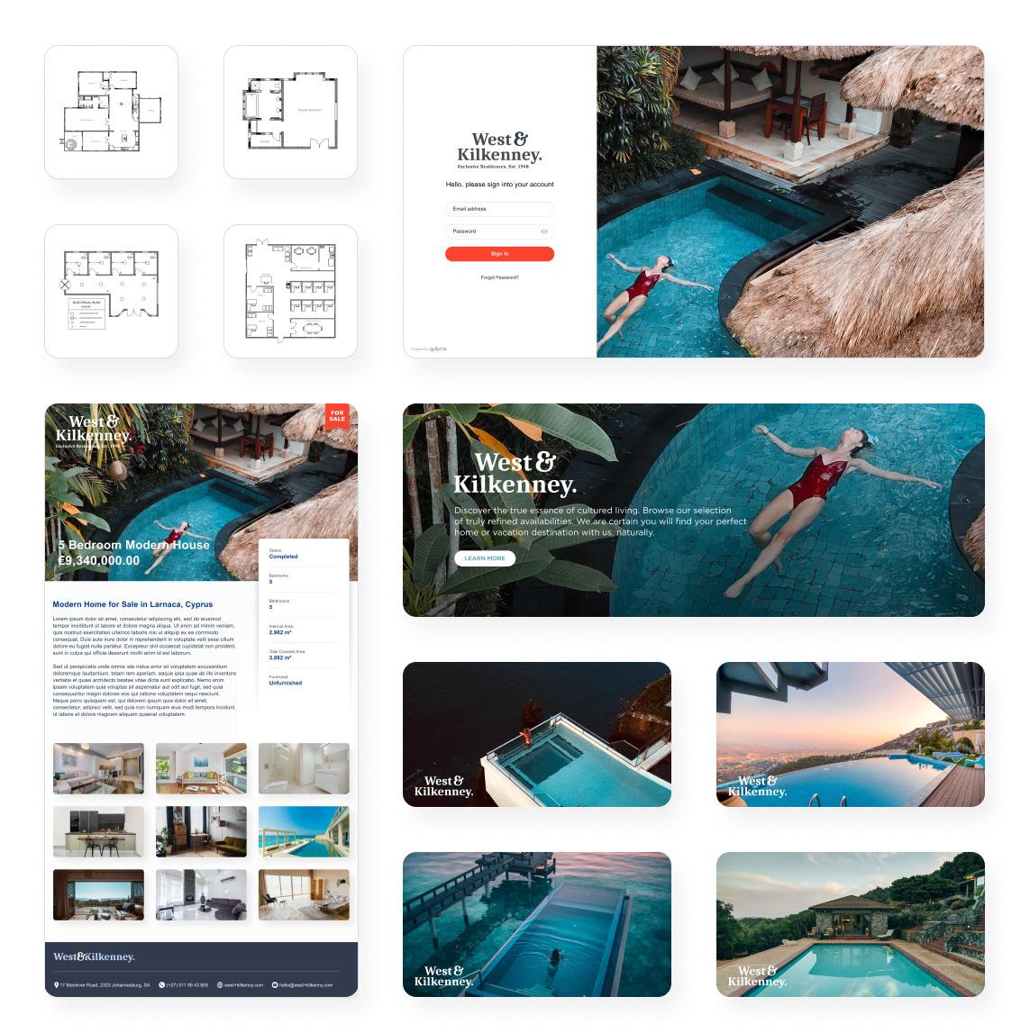 Real Estate Agent portal Marketing material