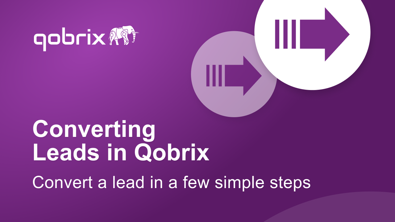 Converting leads in Qobrix