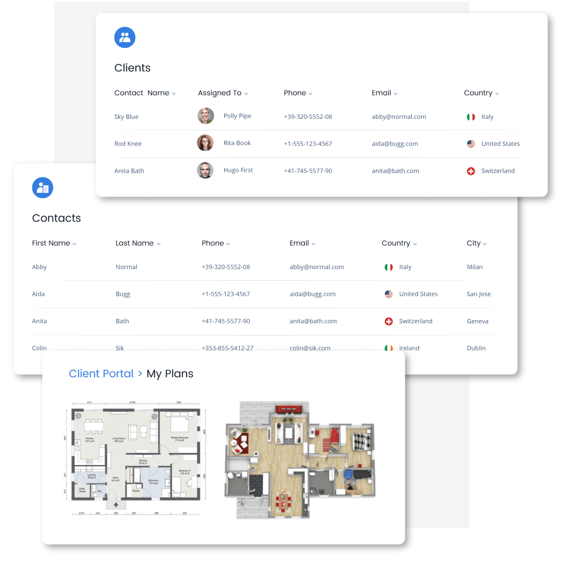 Add clients, provide access to the client portal and view client contracts from Qobrix CRM for real estate