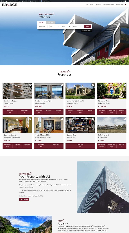 Bridge YourHome website design