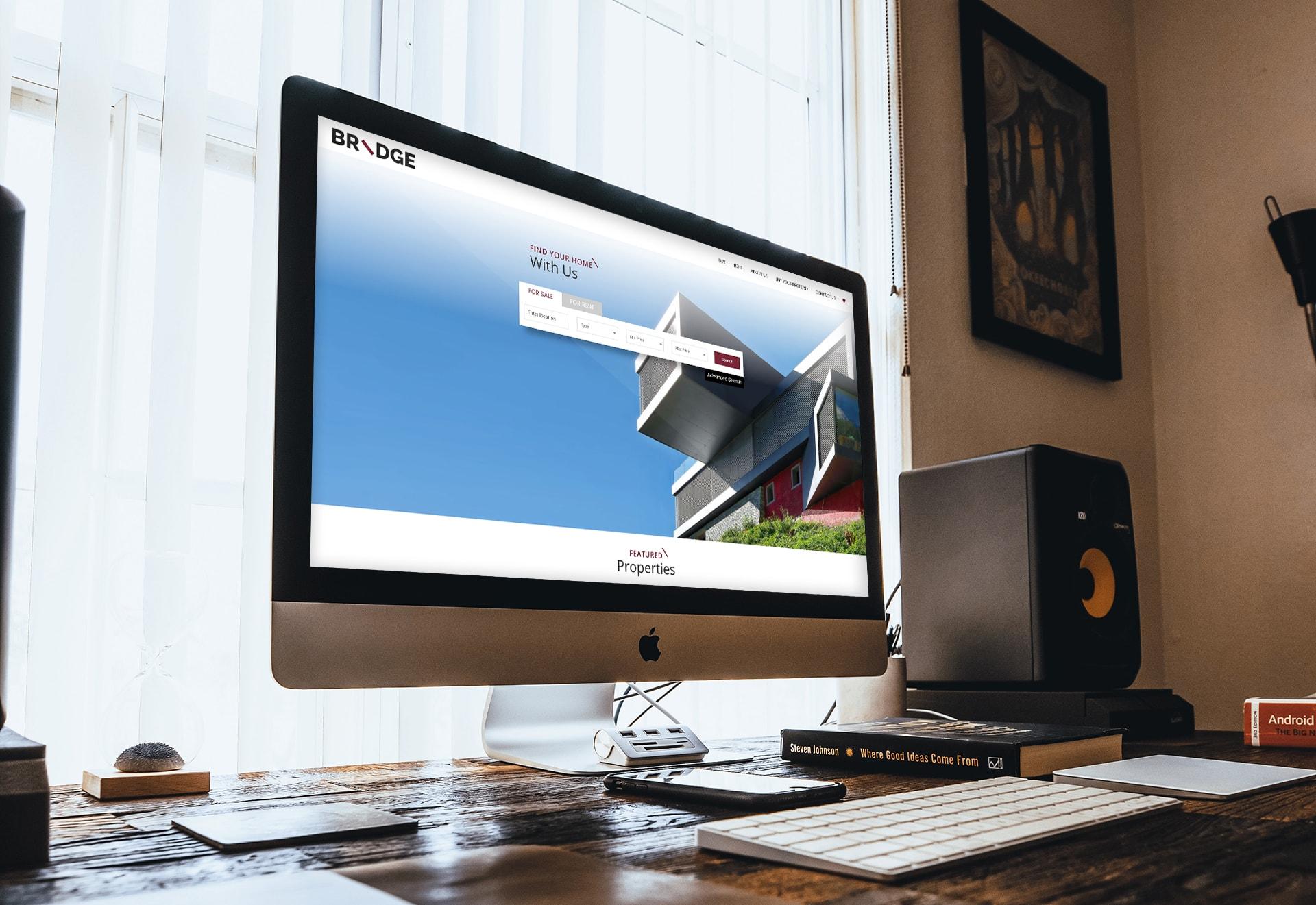 Bridge YourHome real estate website case study