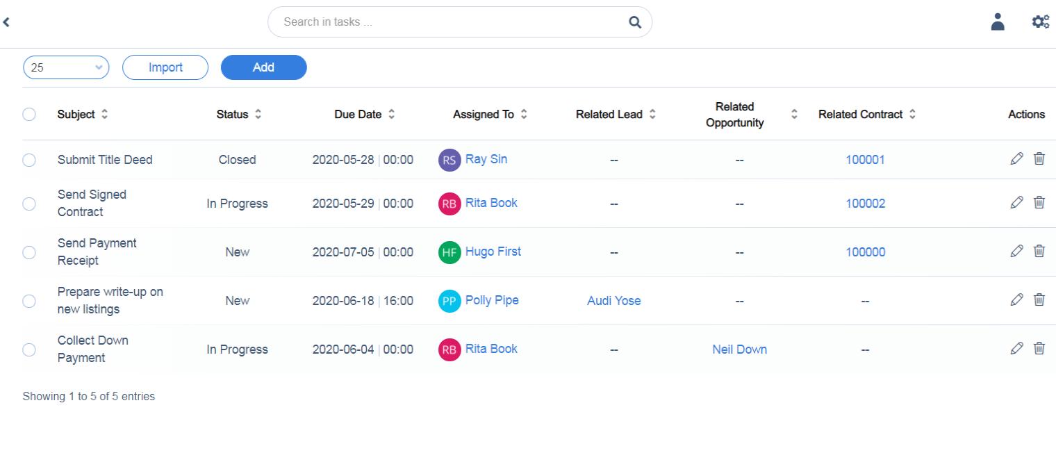 Task Management in Qobrix CRM