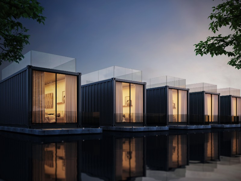 Unusual type of house: container home